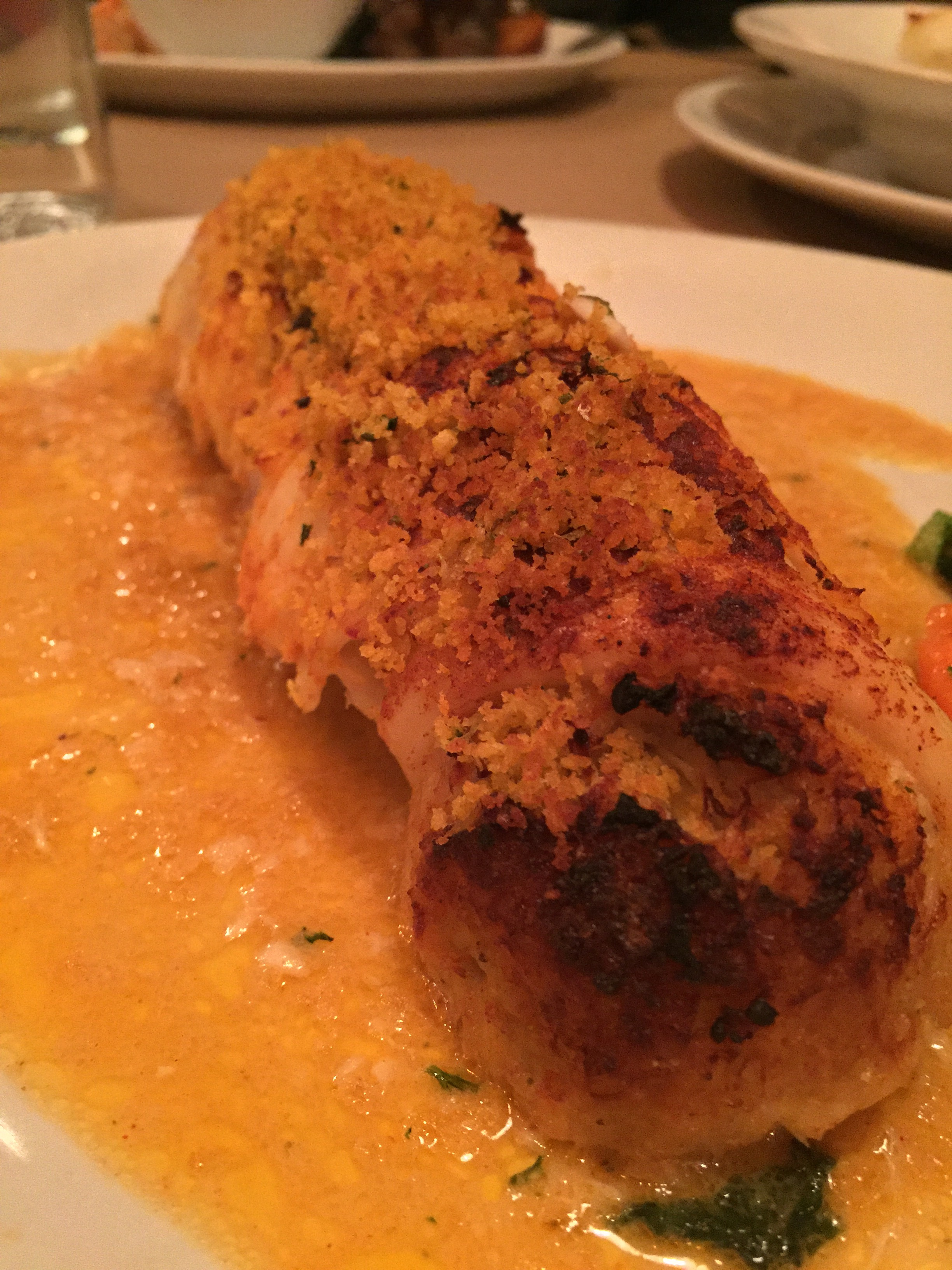 Uncle Bacala's crab-stuffed filet of sole